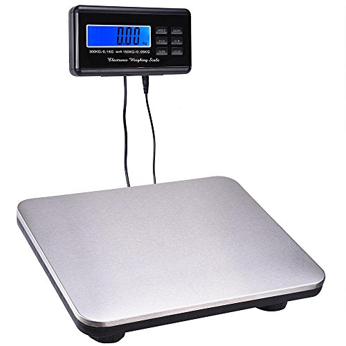 Yescom 660lbs LCD Digital Scale Postal Scale Platform 300kg Capacity Stainless Steel Platform Scale