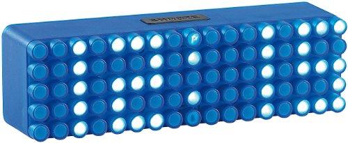 infactory Stylische Wecker: LED-Designer-Wecker Blue 24