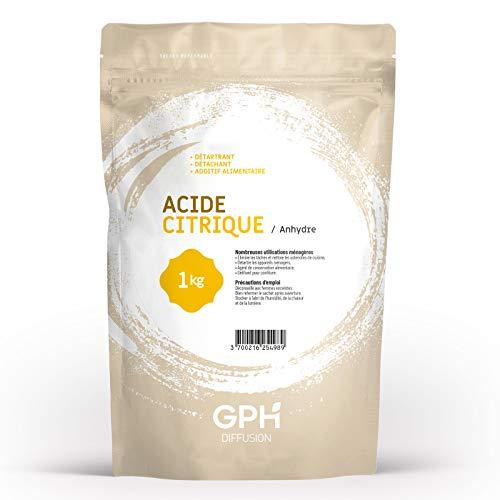 Acide Citrique E330 • DÉTARTRANT • DÉTACHANT • ADDITIF ALIMENTAIRE • Sachet refermable de 1 kg