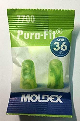 Pura Fit 7700, tappi per le orecchie Moldex, 25paia + scatolina 3M, SNR = 36dB, protezione dell'udito, wadle-shop