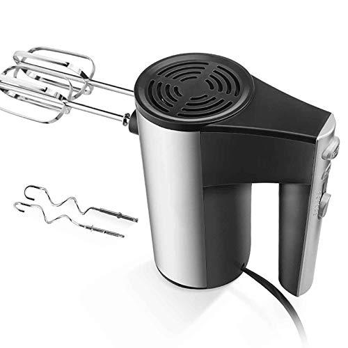 LSJZZ Batidor eléctrico de Mano doméstico, Velocidad Ajustable de 5 velocidades, batidor de Alta Potencia y Mezclador de Masa, Asistente de Hornear de Cocina, Todo en una máquina