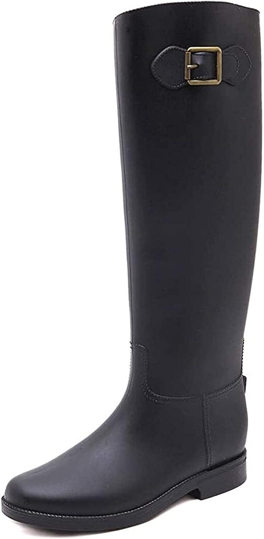 YUESFZ Direct stock discount rain Boots Women's High-top Wate PVC Wide Rain Directly managed store Tube