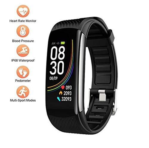 Fitness Tracker Activity Tracker Horloge met thermometer Hartslagmeter Slaapmonitor Bloeddruk IP68 Waterdichte Smart Band Stappenteller voor Kinderen Heren Dames en Cadeaus