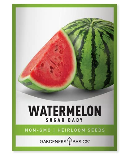 Watermelon Seeds for Planting - Sugar Baby Heirloom Variety, Non-GMO Fruit Seed...