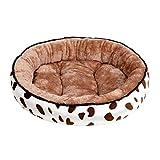 Hundehütte Katzenbett Mode waschbar weiche Hundehütte Haustier Wurf tiefen Schlaf komfortable Katzenbetten (50 * 43cm,Braun)