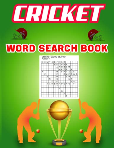 Cricket Word Search Book: Cricket Sports Word Search Book/Activity Puzzles Book For Adults, Teens, Kids/Puzzle Game Word Search Book for Thanksgiving, Christmas day gift