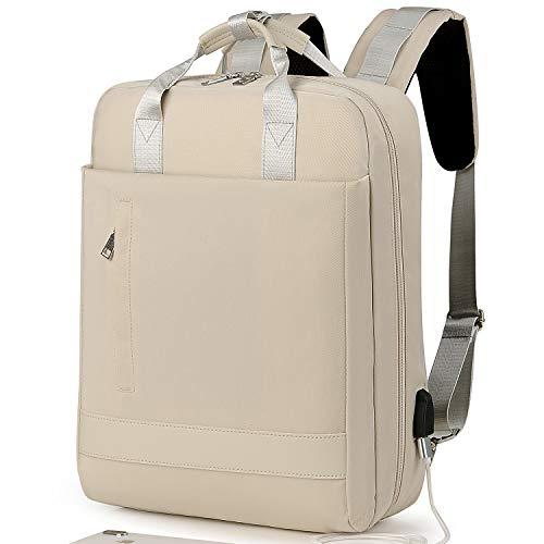 Laptop Rucksack Damen,Schulrucksack Jungen Teenager, Reiserucksack mit USB-Ladeanschluss, leichte Laptoptasche, Schultasche für Männer Herren, passend für 15,6 Zoll Laptop und Notebook