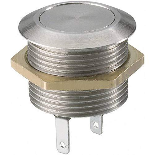 Botón antivandalismo 12 V/AC 0 005 A 1 x Off/(On) MSW1801 momentáneo 1 pieza