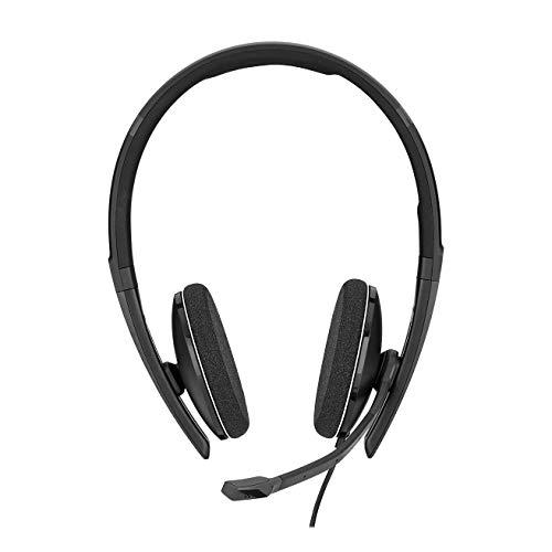 Sennheiser PC 8.2 Chat, kabelgebundenes Headset für entspanntes Gaming, e-Learning und Musik, Noise-Cancelling-Mikrofon & Amazon Basics USB 3.0-Verlängerungskabel (A-Stecker auf A-Buchse) 3 m