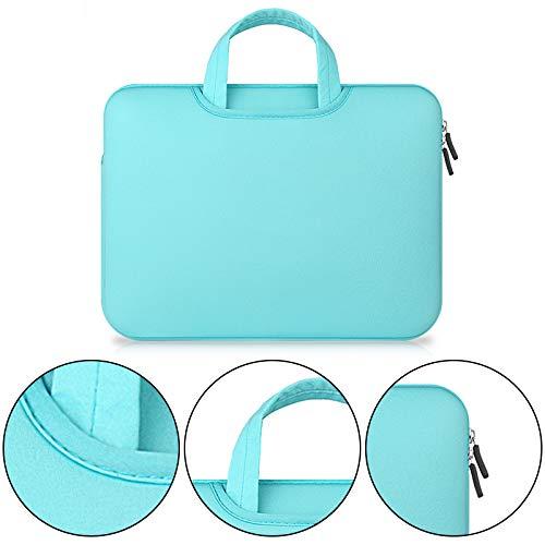 Verde protecci/ón Mejorada Wimagic Esponja de Rizo 15.6 Color Liso Malet/ín para Ordenador port/átil y Tablet PC