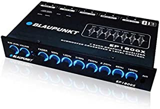 $53 » Blaupunkt EP1800X 7-Band Car Audio Graphic Equalizer with Front 3.5mm Auxiliary Input, Rear RCA Auxiliary Input and High L...