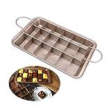 ZHONG AN di Alta qualità Teglie per Brownie, tortiera Antiaderente con divisori, in Acciaio al Carbonio per Alimenti, Base Ispessita e Solida