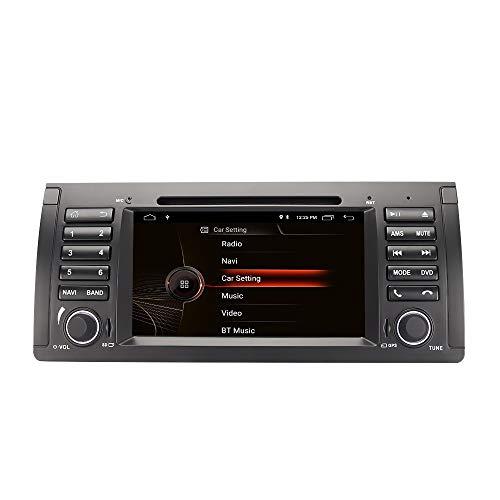 EUNAVI Android 10.0 Autoradio für BMW 3er E53 E39 Radio DVD-Player mit GPS 4 GB + 64 GB Unterstützt Bluetooth DAB + Android Auto WiFi 4G Lenkrad Fernbedienung USB MicroSD (E39 4 + 64G)