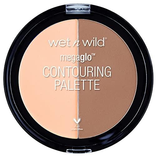 Wet n Wild - MegaGlo Contouring Palette - Paleta de Correctores e Iluminadores, Perfecta para Ocultar las Imperfecciones - Countoring Maquillaje - 2 Colores Diferentes - Dulce De Leche - 1 Unidad