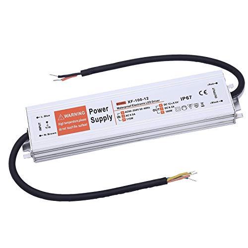 Yafido Led Trafo 12V 100W 8,33A IP67 Driver Leuchtmittel Transformator Für G4 MR11 MR16 GU5.3 LED Birne sowie Lichtstreifen 230V auf 12V Treiber