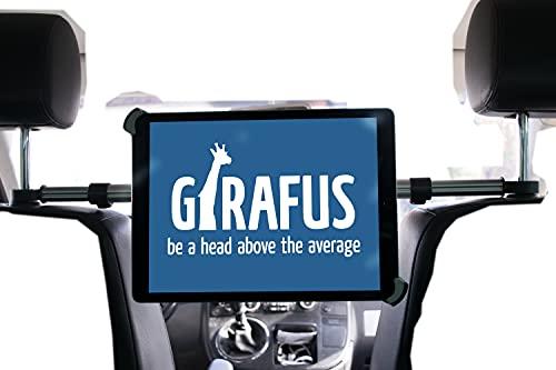 Girafus Tablet Kfz Kopfstützen-Halterung Mitte / 9,5 bis 14,5 Zoll /–für / iPad Pro 12.9'', Galaxy TabPro S, MS Surface 12.3'' & größer / Relax H3 - Rücksitz Halter Auto Universal