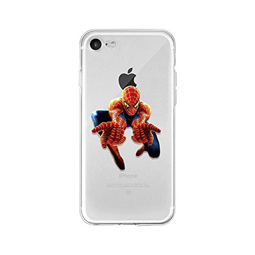 LXXTK Superhero Spider Man TPU Soft Funda iPhone Case Cover A14 For Funda iPhone 7/Funda iPhone 8