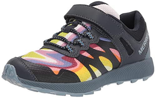 Merrell unisex child Nova 2 Hiking Shoe, Rainbow Mountains, 4.5 Big Kid US