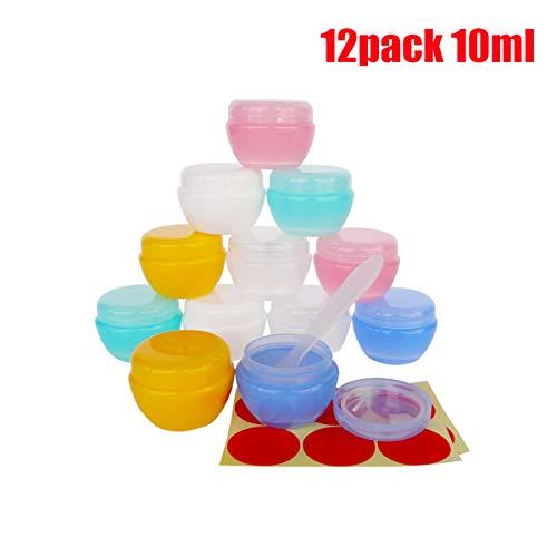 GreatforU 12 Stück 10 Gramm Dosen Leere mit Deckel Transparente Kosmetikbehälter plastik Pot für...