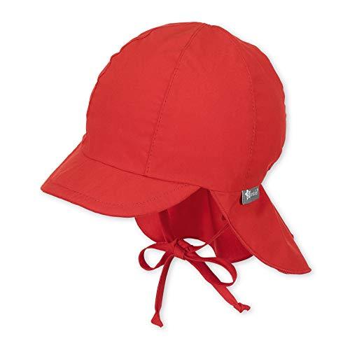 Sterntaler Schirmmütze mit Bindebändern und Nackenschutz, Alter: 2-4 Jahre, Größe: 53, Rot