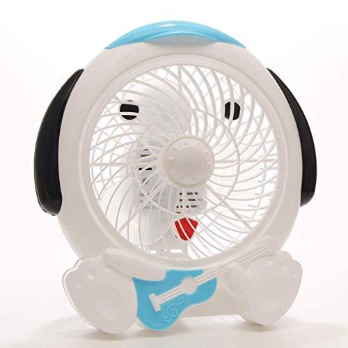 NGXIWW Draagbare Ventilator, 11 Inch 2-speed Free Wind Speed Adjustment Energiebesparende Tafelventilator voor Slaapkamer Woonkamer Slaapzaal Kantoor, Blauw