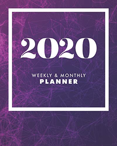 2020 Weekly & Monthly Planner: Motivational Quotes | Jan 1, 2020 to Dec 31, 2020 + Full Calender Views [2020 Loveable Fringe Planners] Purple Magenta
