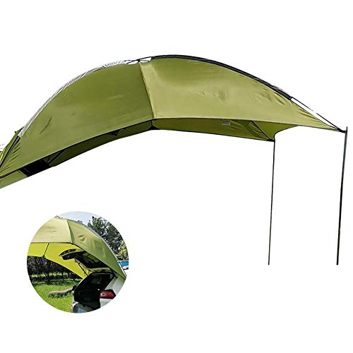 Steadyuf Car Awning Sun Shelter Light Weight Waterproof, Durable Tear Resistant Auto Canopy Camper Trailer Tent Tailgate Awning Tent Roof for Beach Camping Auto Traveling Tent Shade Awning