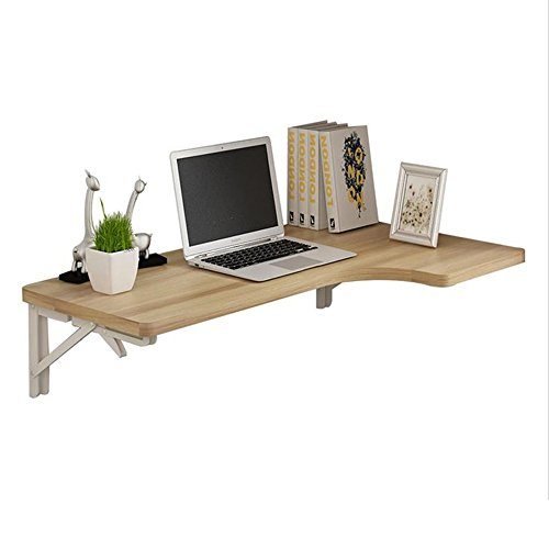Zaixi Table Pliante d'angle Murale Bureau Table d'étude de Table Type L Bureau d'ordinateur Forte capacité portante (Taille : 120 * 60 * 40cm)