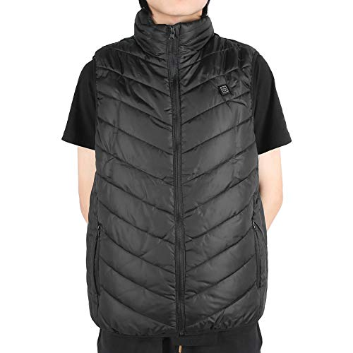 Chaleco calefactor eléctrico, abrigo inteligente para ropa de abrigo, chaqueta con calefacción eléctrica, cuello alto suave para adultos mayores(Pisa Leaning Tower Type-L)