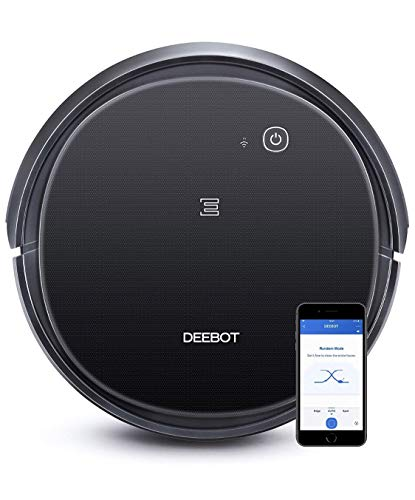 ECOVACS DEEBOT 500 Robotic Vacuum Cleaner with Max Power Suction, Up to 110 min Runtime, Hard Floors & Carpets, App Controls, Self-Charging, Quiet