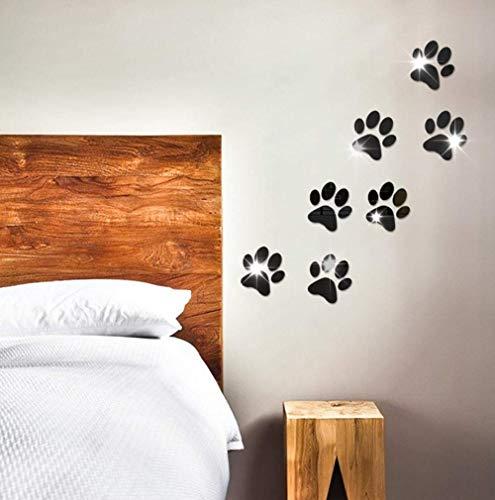 Etiqueta De La Pared Decoración De La Huella Del Perro Home Room Art 3D Diy Pegatinas De Pared 10X10Cmx7