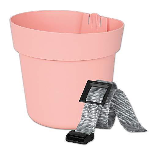 Geli Conny Hängetopf + Befestigung Geländertopf Blumentopf Hängend Pastell Pink