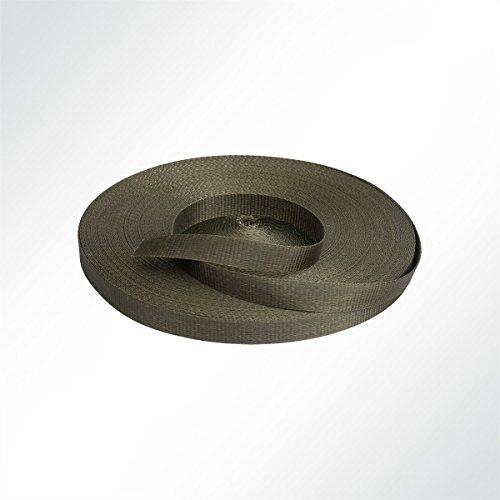 LYSEL Gurtband Polyester (PES), 35 mm breit, 2 mm stark, 3200 Kg, grün, (L) 9m