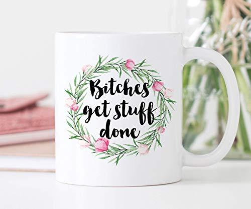 Koffie Mok Teven Krijgen Stuff Done Beste Vriend Gift Grappige Mok Baas Lady Mok Meisje Power Mok Teef Citaat Mok Feminist Gift