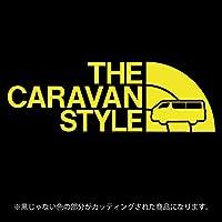 キャラバンNV350 ステッカー THE CARAVAN STYLE【カッティングシート】パロディ シール(12色から選べます) (黄色)