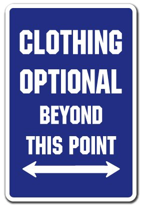 Clothing Optional Parking Sign | Indoor/Outdoor | Funny Home D�cor for Garages, Living Rooms, Bedroom, Offices | SignMission Pool Spa Hot Tub Gift Swimming Nudist Nude Sign Wall Plaque Decoration