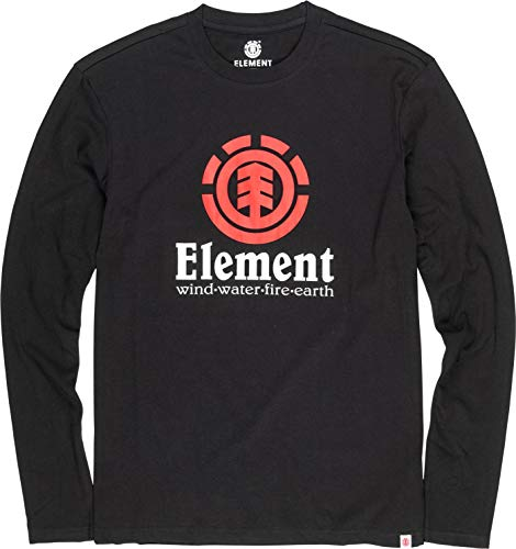 Element Herren Vertical LS Tees, Flint Black, L