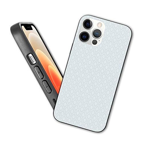 Diseñada para iPhone 12, diseño abstracto de mandala redondo diseñado con hojas de flores y tallos elementos, para iPhone 12 TPU, IP12 Pro-6.1.