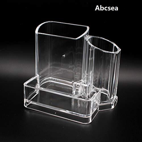 Abcsea 1 Stück lange eleganter Schreibtisch Stifthalter, acryl transparenter stiftehalter, transparenter Make-up-Organizer, kosmetischer Organisator