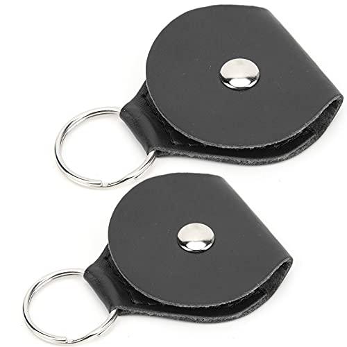 Plektrenkoffer, Snap Buckle Design 2pcs Plektrenhalter tragbar für Plektren für Münzen(black)