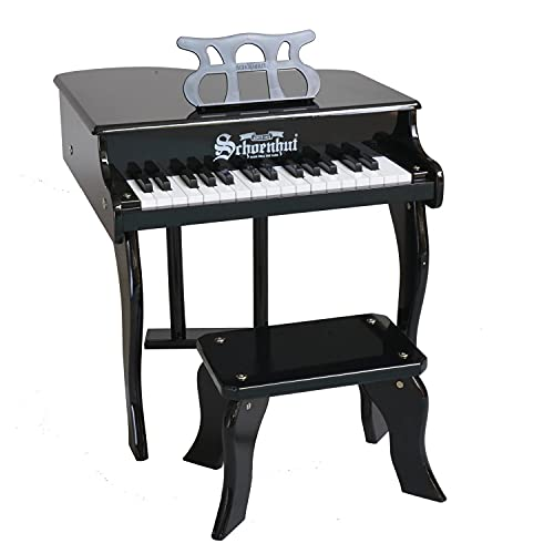 Schoenhut Baby Grand Piano - Child Piano with Bench - Learn to Play Kids Piano Keyboard for Beginners - Musical Instruments for Toddlers - Piano for Kids 3 Years and Up - Ideal Baby Piano Toy Gift