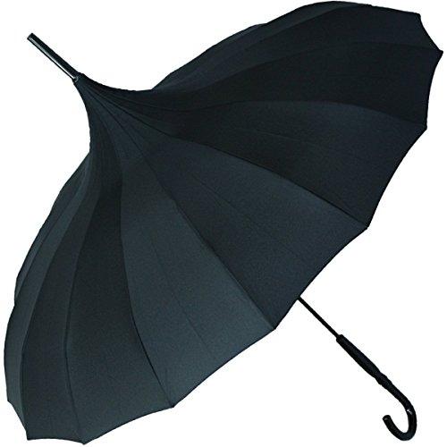 Regenschirm Pagode Cecile schwarz