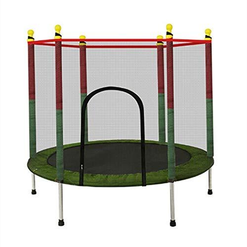 Mini-trampoline, Fitness-trampoline met veiligheidsnet en springmat Regenhoes voor jongens en meisjes