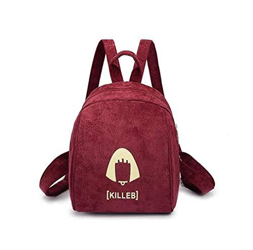 Easy School Rucksack Heavy Duty Schoolbag Daypacks Rüschen Rucksack Wasserdichter Rucksack Mädchen Fashion Schultasche (Rot), Rot