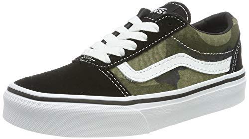 Vans Jungen Ward Suede/Canvas Sneaker, Mehrfarbig ((Camo) Multi/White U0j), 31.5 EU
