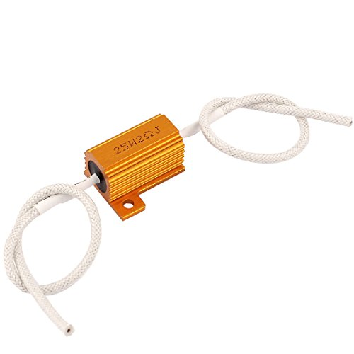 uxcell 2Ohm 25W 5% Wirewound Loudspeaker Aluminum Clad Resistor