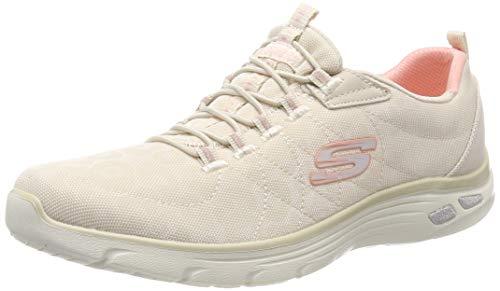 Skechers Damen Empire D'lux Spotted-12825 Sneaker, Beige (Natural NAT), 39 EU