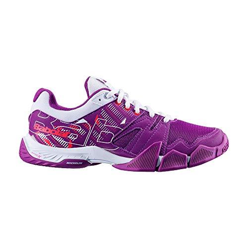 BABOLAT PULSA Women, Zapatillas de Tenis Mujer, Royal Lilac/White, 37 EU