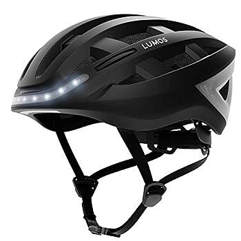LUMOS Kickstart Smart Helmet   Bike Accessories   Adult  Men Women   Front and Rear LED Lights   Turn Signals   Brake Lights   Bluetooth Connected  Charcoal Black MIPS