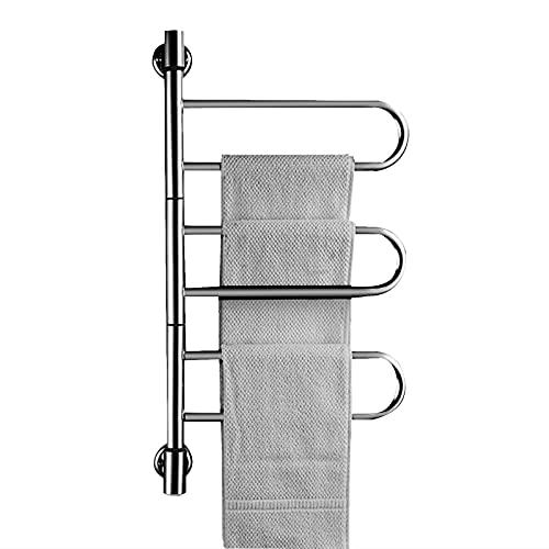 Bospyaf Toalla De Calefacción Eléctrica Inteligente, Secadora De Baño De Acero Inoxidable 304 Sin Perforación Temperatura Constante Towel Rack,C